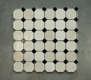 Crema Marfil Octagon with Dot Polished Marble Mosaic Tile | Wall | Backsplash | Bathroom | Kitchen | Shower | Natural Stone