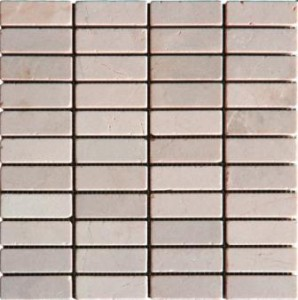 1x3 Crema Maril Tumbled Bricks Marble Mosaic Tiles- From Spain