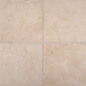 "Spanish Crema Marfil - 6"" x 6"" Polished Marble Floor and Wall Tiles"