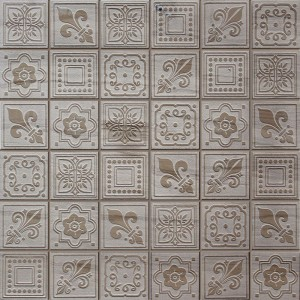 "12"" x 12"" Dynasty Grey Square Pattern Stone Mosaic Tile"
