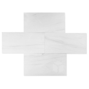 Dolomite 12 in. x 24 in. Polished Marble Floor & Wall Tile