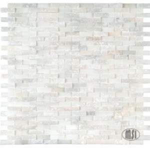 Greecian White Splitface 12x12 Marble Mosaic Wall Tiles