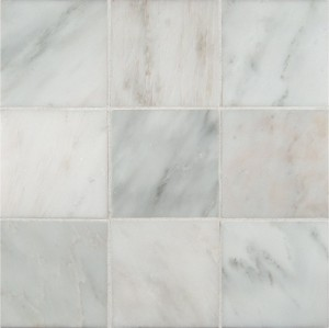 4x4 Arabescato White Carrara Honed & Beveled Marble Tile