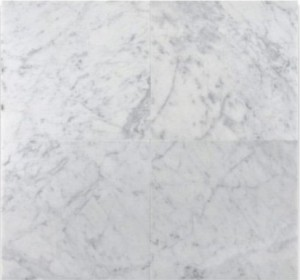 Bianco Carrara White Marble Honed 12x12 Floor and Wall Tile