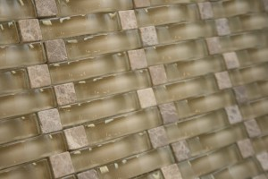 Vintrav Light Emperador 3D Waves Glass Mosaic Tiles