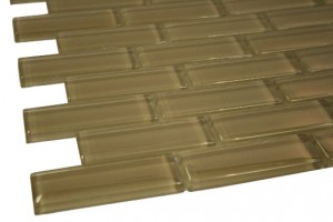 Broadway Sea Lion Tan 1x3 Mesh-Mounted Glass Mosaic Tile