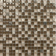 Quantum Dark Chokolat 5/8 in. x 5/8 in. Glass Stone Mosaic Tile