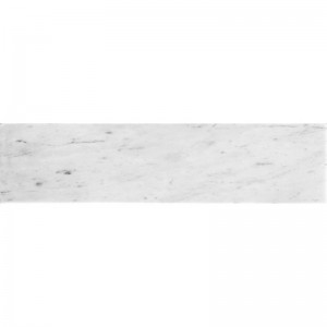 4x16 Bianco Carrara Honed White Marble Subway Tile