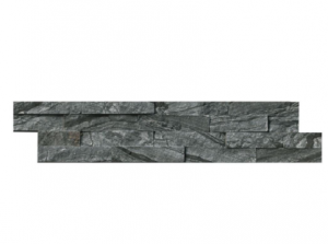 Glacier Black Ledger Panel 6 in. x 24 in. Natural Quartzite Wall Tile