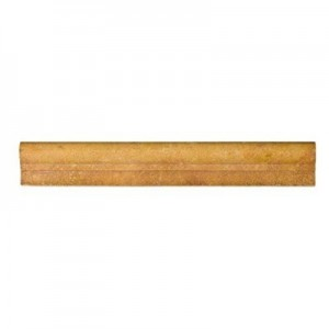 Gold / Yellow 2X12 Travertine Ogee Chair Rail Liner Trim
