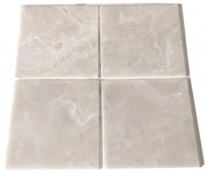 18 in. x 18 in. Pearl White Onyx Polished Floor & Wall Tiles
