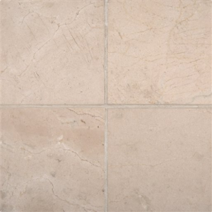 "Spanish Crema Marfil - 6"" x 6"" Honed Marble Floor and Wall Tiles"