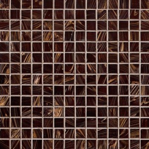 Elixir Iridescent Brown 3/4x3/4 Glass Mosaic Tile