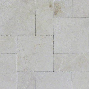 Aegean Pearl Versailles Pattern Tumbled Marble Pavers Tile for Driveway and Pool Deck
