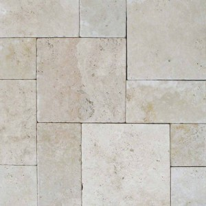 Tuscany Beige 8 x16 Tumbled Pavers Tile for Driveway and Pool Deck