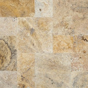 Tuscany Scabas Tumbled 16x16 Pavers Tile for Driveway and Pool Deck