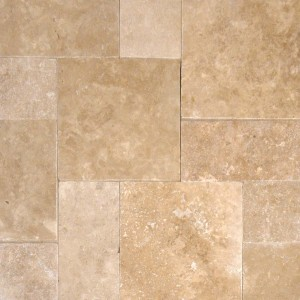 Tuscany Walnut Travertine Tumbled 8x16 Pavers Tile for Driveway and Pool Deck