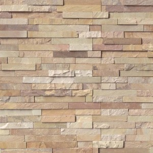 Fossil Rustic Ledger Panel 6 in. x 24 in. Natural Quartzite Wall Tile