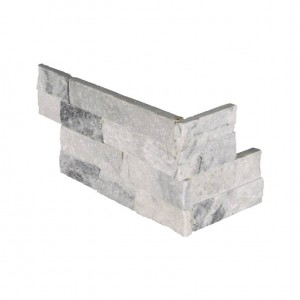 Alaska Gray Ledger Corner 6 in. x 12 in. x 6 in. Natural Marble Wall Tile