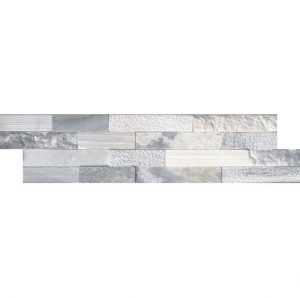 Alaska Gray Marble Multi Finish 6 in. x 24 in. Ledger Panel Wall Tile