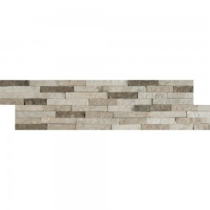 Colorado Canyon Pencil Multi Finish Ledger Panel 6 in. x 24 in. Marble Wall Tile