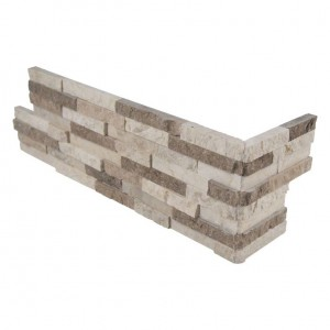 Colorado Canyon Pencil Stacked Stone L- Shaped Corner Ledger Panel Wall Tiles