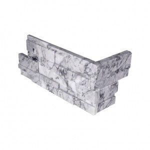 Statuarietto Capri 3D Honed Ledger Panel Corner 6 in. x 12 in. x 6 in.Natural Quartzite Wall Tile