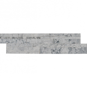 Statuarietto Capri 3D Honed Marble 6 in. x 24 in. Ledger Panel Wall Tile