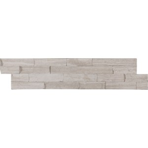 White Oak Marble Split Face 6 in. x 24 in. Ledger Panel Wall Tile