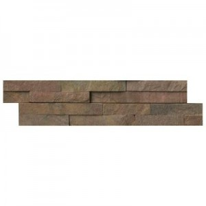 Copper Ledger Panel 6 in. x 24 in. Natural Quartzite Wall Tile