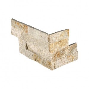Sparkling Autumn Ledger Corner Piece 6 in. x 12 in. x 6 in. Natural Quartzite Wall Tile