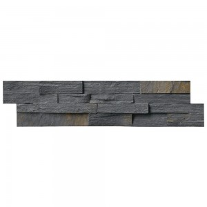 Charcoal Rust Ledger Panel 6 in. x 24 in. Natural Slate Wall Tile
