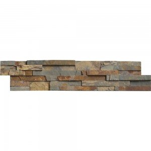Gold Rush Ledger Panel 6 in. x 24 in. Natural Quartzite Wall Tile