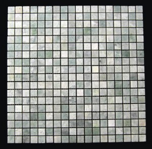 Ming Green Marble 5/8 x 5/8 Polished Mesh Mounted Mosaic Tile