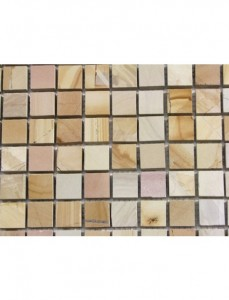 Teakwood Polished 1x1 Square Mosaic Tile on 12x12 Sheet