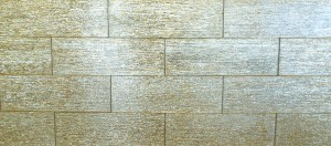 "4"" x 12"" Broad Gold Broadway Textured Glass Mosaic Tile Use For Home And Kitchen Backsplash"