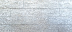 "4"" x 12"" Broad Silver Broadway Textured Glass Mosaic Tile Use For Home And Kitchen Backsplash"