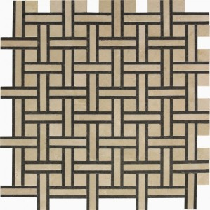 Crema Marfil Bristol Blend Normandy Pattern Polished Mosaic Tile by Soci