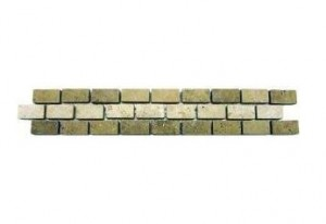 Noche Chiaro Tumbled Travertine Broken Joint Border Molding