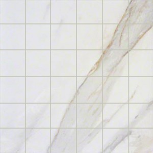 Pietra Calacatta 2 in. x 2 in. Ivory Porcelain mosaic Tile
