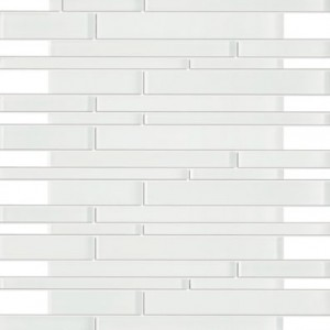 Zen Random Bricks White Crystal Glass Mosaic Tile