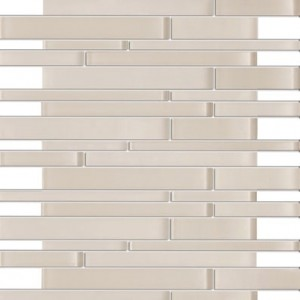 Zen Pale Pink Random Bricks Glass Mosaic Tiles