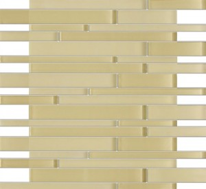 Zen Bermuda Beige Random Bricks Glass Mosaic Tiles