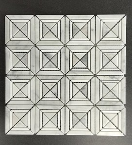 12 in. x 12 in. White Carrara/Thassos White Varied Shape Polished Marble Mosaic Tile | Wall | Backsplash | Bathroom | Kitchen | Shower | Natural Stone