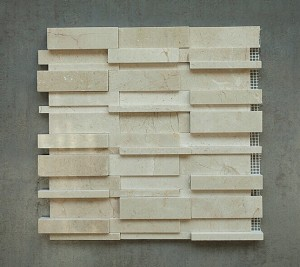 Random Crema Marfil Polished Marble Mosaic Tile | Wall | Backsplash | Bathroom | Kitchen | Shower | Natural Stone