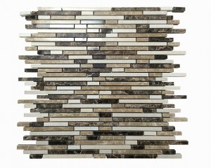 Random Stripe Polished Marble Mosaic Tile | Wall | Backsplash | Bathroom | Kitchen | Shower | Natural Stone