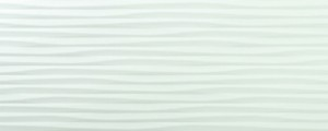 Azulev Richmond White 8 in. x 20 in. Tress Deco Glossy Ceramic Wall Tile | Kitchen | Bathroom | Backsplash | Shower | Accent Wall