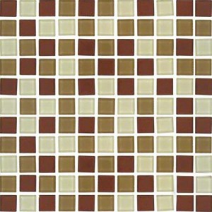 Myrtle Sedona Blend 1 in. x 1 in. Glass Mosaic Tiles