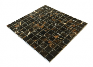 1x1 Michaelangelo Marble Polished Mosaic Tile