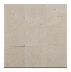 Spanish Crema Marfil 4 in. x 4 in. Marble Tile Polished